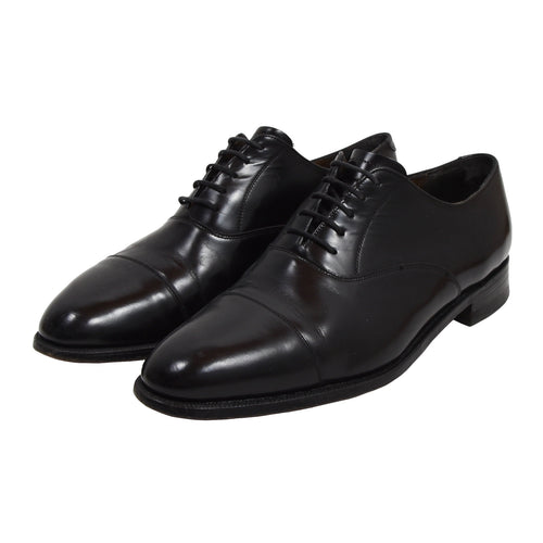 Barker England Oxford Shoes Size 10.5F - Black