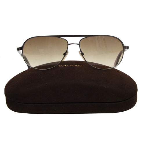 Tom Ford TF 143 Sunglasses - Grey/Amber