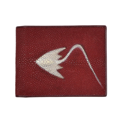 Genuine Stingray Skin Wallet - Red