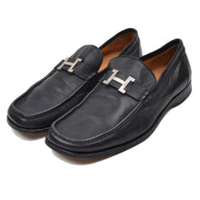 Load image into Gallery viewer, Hermès Paris H Buckle Loafer Size 42.5 - Black