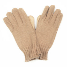 Load image into Gallery viewer, Cashmere Knit Gloves Size L - Oatmeal & Beige