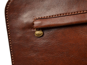 The Bridge Firenze Leather Portfolio/Document Holder - Brown