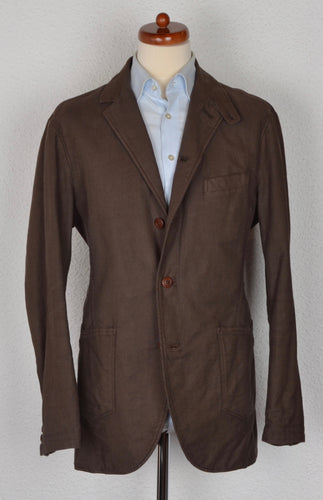 Annisej Life Cotton Linen Jacket Size 52 - Brown