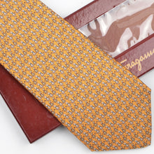 Load image into Gallery viewer, Salvatore Ferragamo Dog Print Silk Tie - Yellow