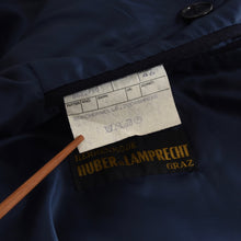 Load image into Gallery viewer, A'Mana Wool-Cashmere Double-Breasted Peak Lapel Coat Size 46 - Navy Blue