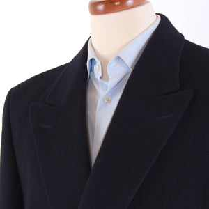 Classic Bugatti Double-Breasted Wool Coat - Navy Blue