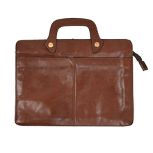 Load image into Gallery viewer, Leather Briefcase/Document Carrier - Brown