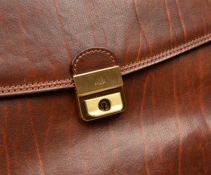 The Bridge Firenze Leather Briefcase/Business Bag - Brown 2