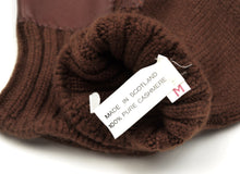Load image into Gallery viewer, Cashmere Knit Gloves Size M - Chocolate