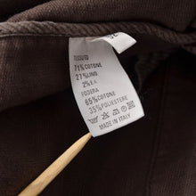 Load image into Gallery viewer, Annisej Life Cotton Linen Jacket Size 52 - Brown