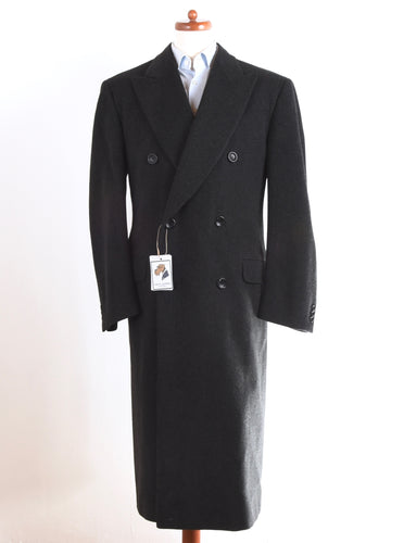 Canali Proposta Wool/Cashmere Double-Breasted Overcoat Size 50  - Charcoal