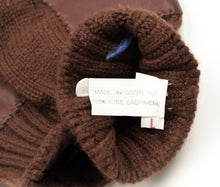 Load image into Gallery viewer, Cashmere Knit Gloves Size L - Chocolate