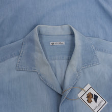 Load image into Gallery viewer, Loro Piana One-Piece Collar Chambray Shirt Size XXL - Blue