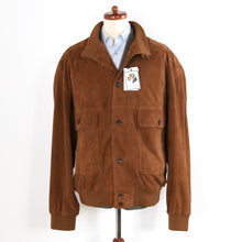 Load image into Gallery viewer, Reiher Leatherwear Suede Blouson Jacket Size 60 - Tobacco Brown