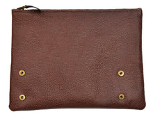 Load image into Gallery viewer, R. Horn Wien Leather Zipper Pounches/Travel Wallets - Brown