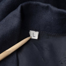 Load image into Gallery viewer, Bernini of Beverly Hills Linen Jacket - Navy Blue