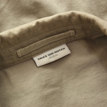 Load image into Gallery viewer, Dries Van Note Cropped Military-Inspired Jacket Size M - Tan/Khaki