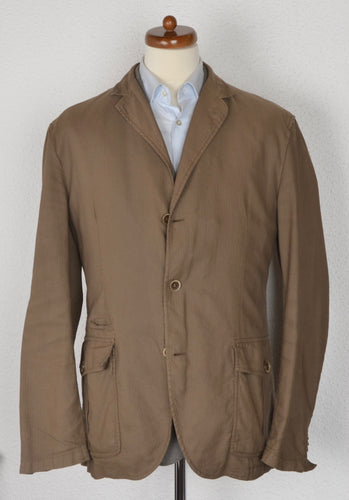Henry Cotton's Cotton/Linen Jacket Size 58 - Brown