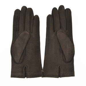 Unlined Carpinchos Suede Gloves Size 9 - Chocolate