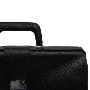 Vintage Leather Doctor Bag/Briefcase - Black