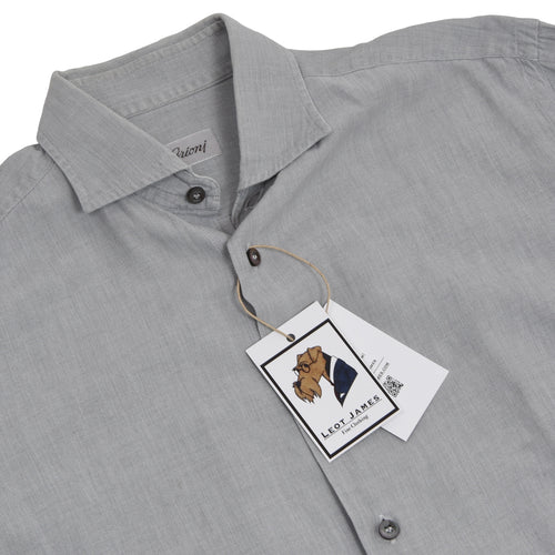 Brioni Cotton Shirt Size III - Light Grey