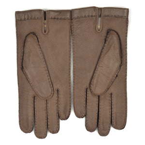 Lined Deerskin Gloves Size 8 - Taupe