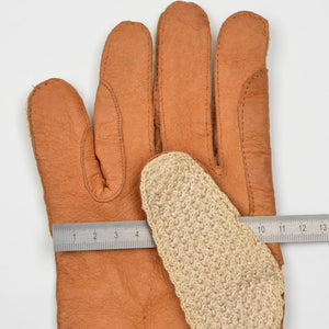 Leather & Knit Driving Gloves - Size 8