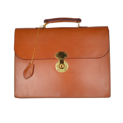 John Sharp by Swaine Adeney Brigg Westminster Briefcase - London Tan