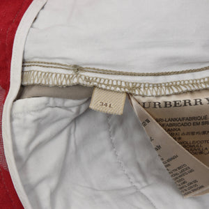Burberry Brit Cotton Pants Size 34L - Taupe