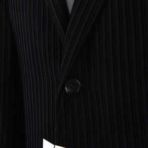 Versace Collection Velvet Striped Jacket Size 52 - Black