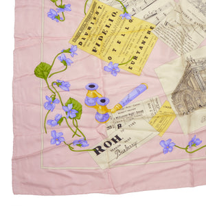 Burberry London Printed Silk Scarf - Pink