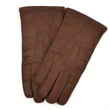 Load image into Gallery viewer, Lined Hand-Stitched Leather Gloves Size M - Brown
