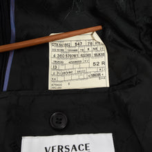 Load image into Gallery viewer, Versace Collection Velvet Striped Jacket Size 52 - Black