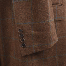 Load image into Gallery viewer, Scabal Windowpane Jacket Size 110 - Rust