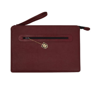 2x Leather Document Holders - Red