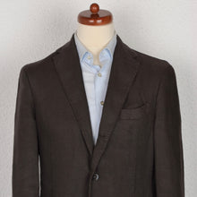 Load image into Gallery viewer, Boglioli COAT Linen Jacket Size 48 - Brown