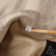 Load image into Gallery viewer, Bernini of Beverly Hills Linen Jacket - Sand