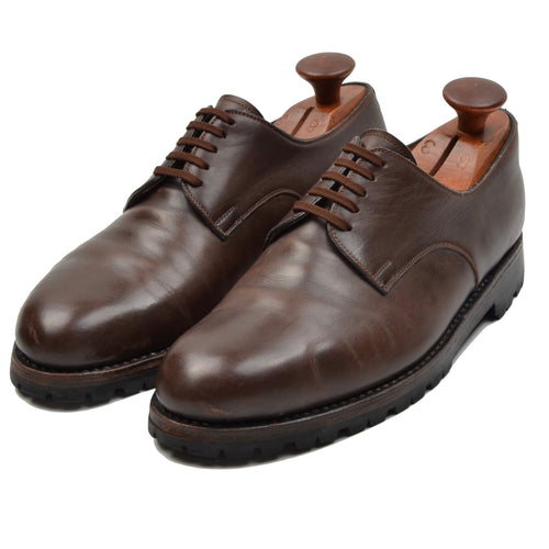 László Vass Plain Toe Blucher Shoes Size 40.5 - Brown