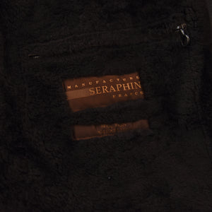 Seraphin France Mouton Shearling Coat Size 56 - Dark Brown