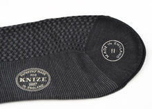 Load image into Gallery viewer, Knize Wien Merino Socks Size 11 - Charcoal & Grey