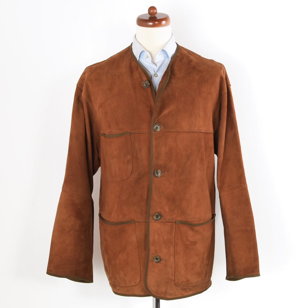 Vintage Bottega Veneta Leather Jacket - Brown
