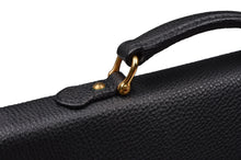 Load image into Gallery viewer, F. Schulz Pebble Grain Leather Briefcase - Black