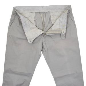 Luigi Borrelli Cotton Pants Size 54 - Grey