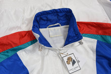 Load image into Gallery viewer, Vintage '90s Adidas Jogging/Warm Up Suit Size D7/L - Blue, White, Teal, Red