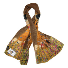 Load image into Gallery viewer, Gustav Klimt Silk Scarf - The Kiss