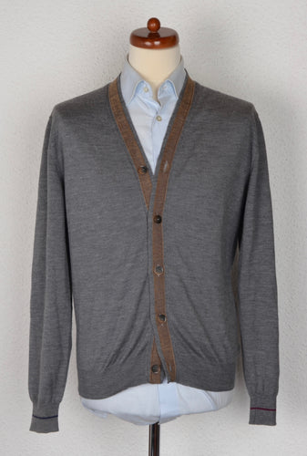 Etro Milano Wool Cardigan Sweater - Grey