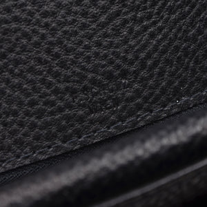 F. Schulz Pebble Grain Leather Briefcase - Black