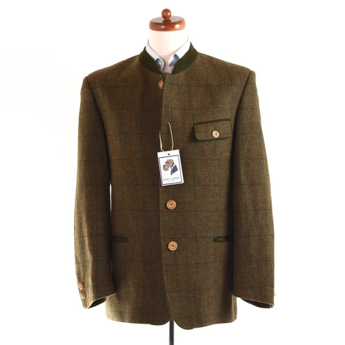 Allwerk Tweed Janker/Jacket Size 48 - Green Windowpane