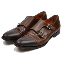 Load image into Gallery viewer, Santoni Double-Monk Leather Shoes Size 8.5F - Brown