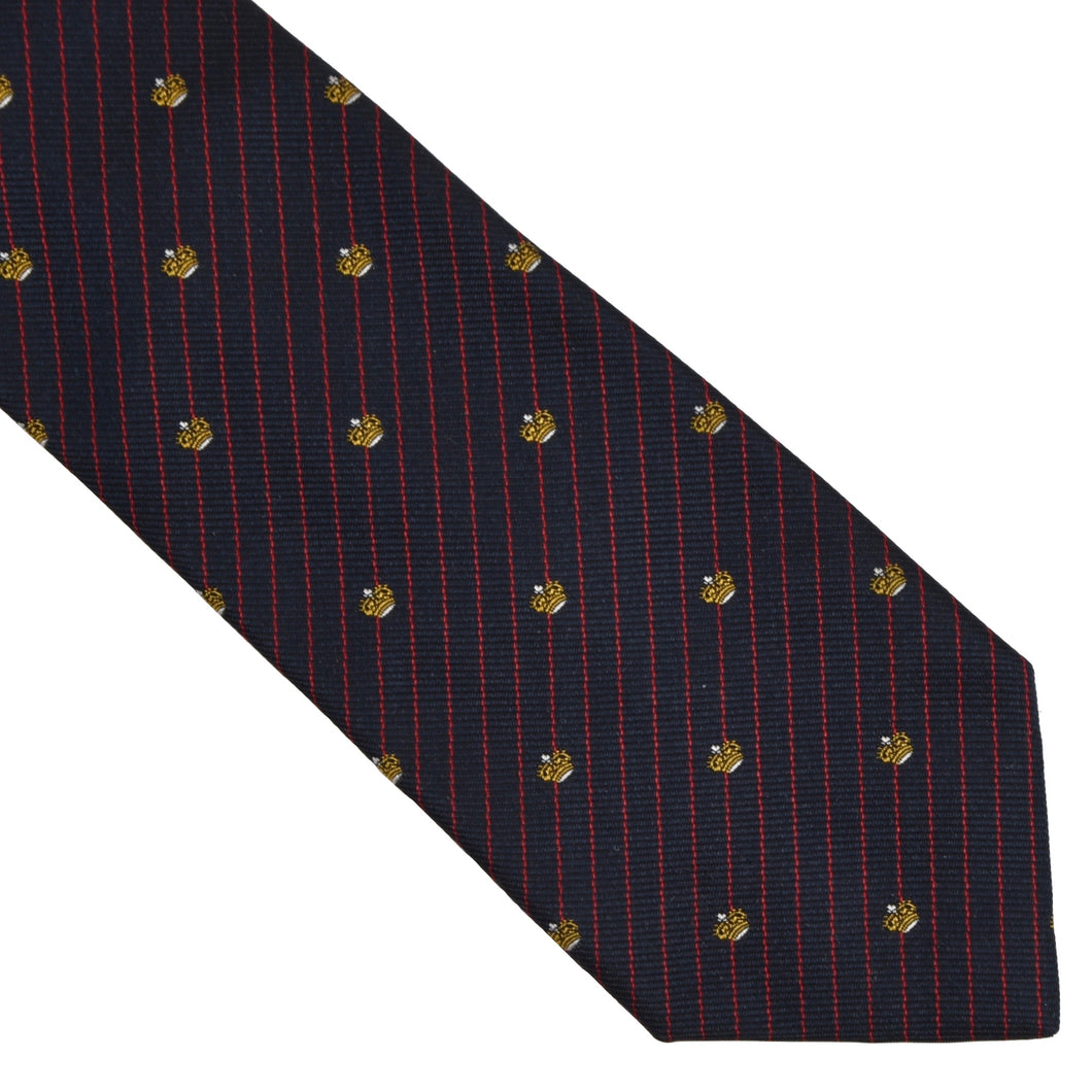 Altea Milano Silk Tie - Navy Crowns